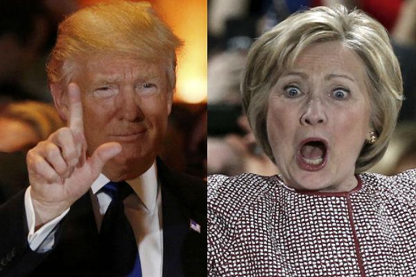клинтон трамп1