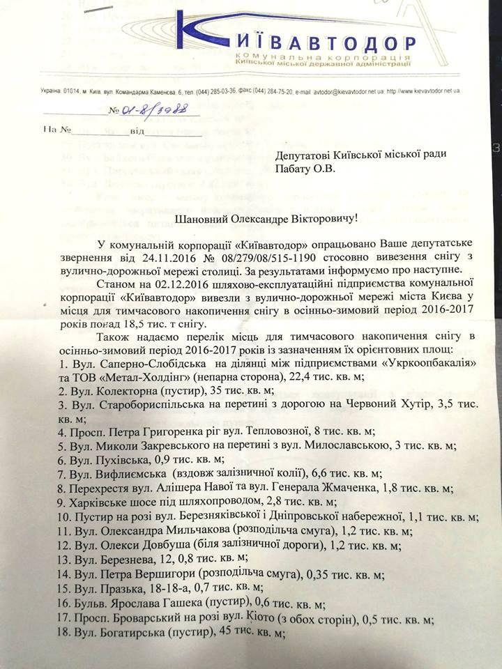 Киев будет плавить снег