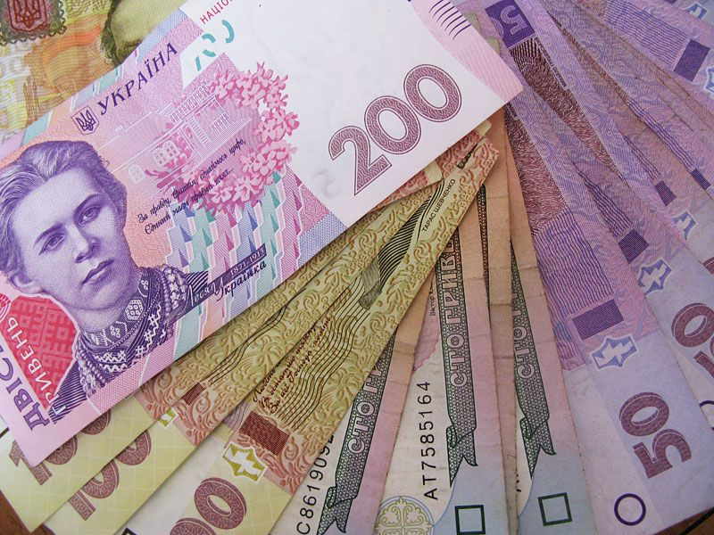 данном украинские деньги фото окружают лиственные