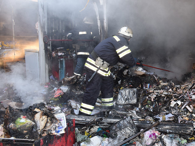 Пожар в торговом киоске Николаева