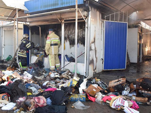 Пожар вспыхнул в торговом киоске Николаева