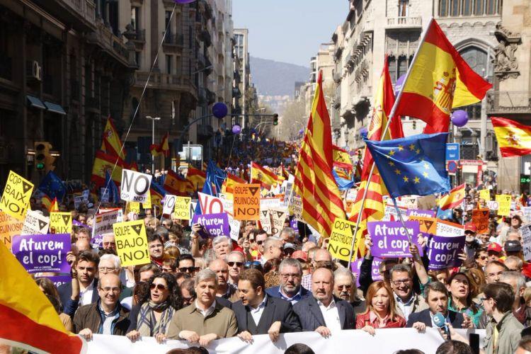 В Барселоне проходят протесты