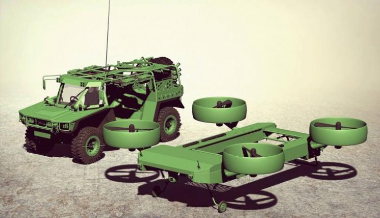 Вгосударстве Украина представили летающий бронеавтомобиль-трансформер для спецназа