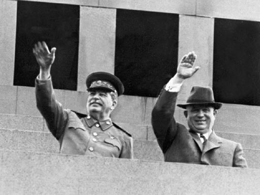 Хрущов  и Сталин