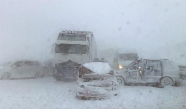 В Словакии снегопад
