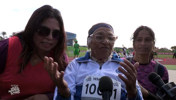 В забеге на 100 метров победила 101-летняя пенсионерка -