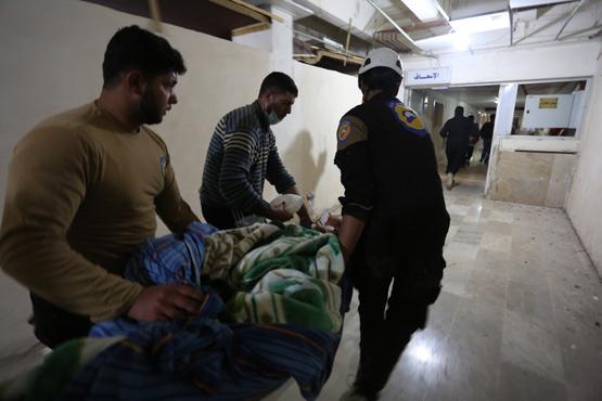 газовой атаке против мирных жителей в провинции Идлиб