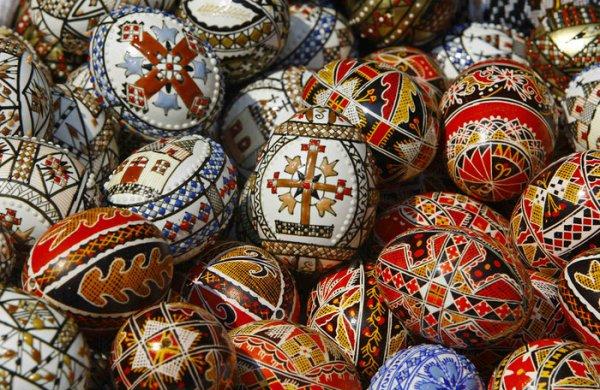 пасхальные яйца крашанки
