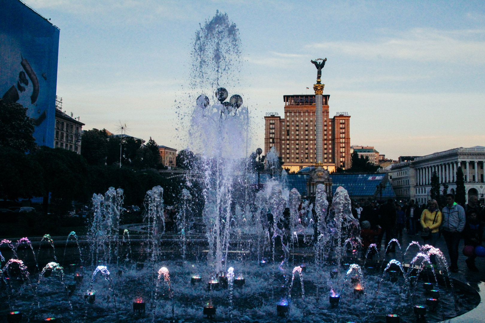 фонатн на Майдане
