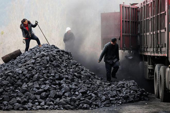 уголь в США.