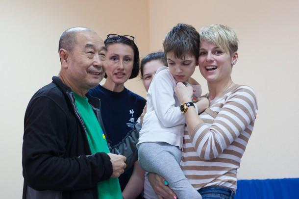 Мастер Му юйчунь с детьми  - семинар