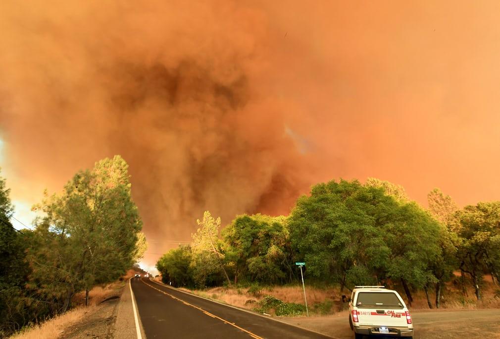 калифорния пожар