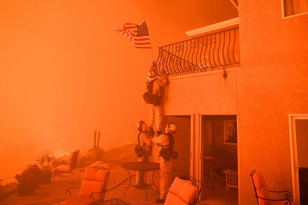 пожар в америке