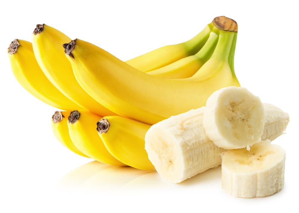 бананы на белом фоне