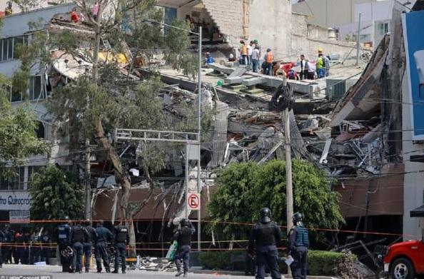 После мощного землетрясения вМексике случилось 11 афтершоков