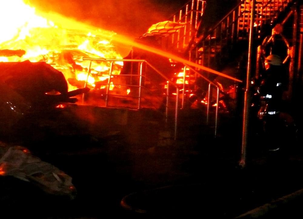 пожар лагерь