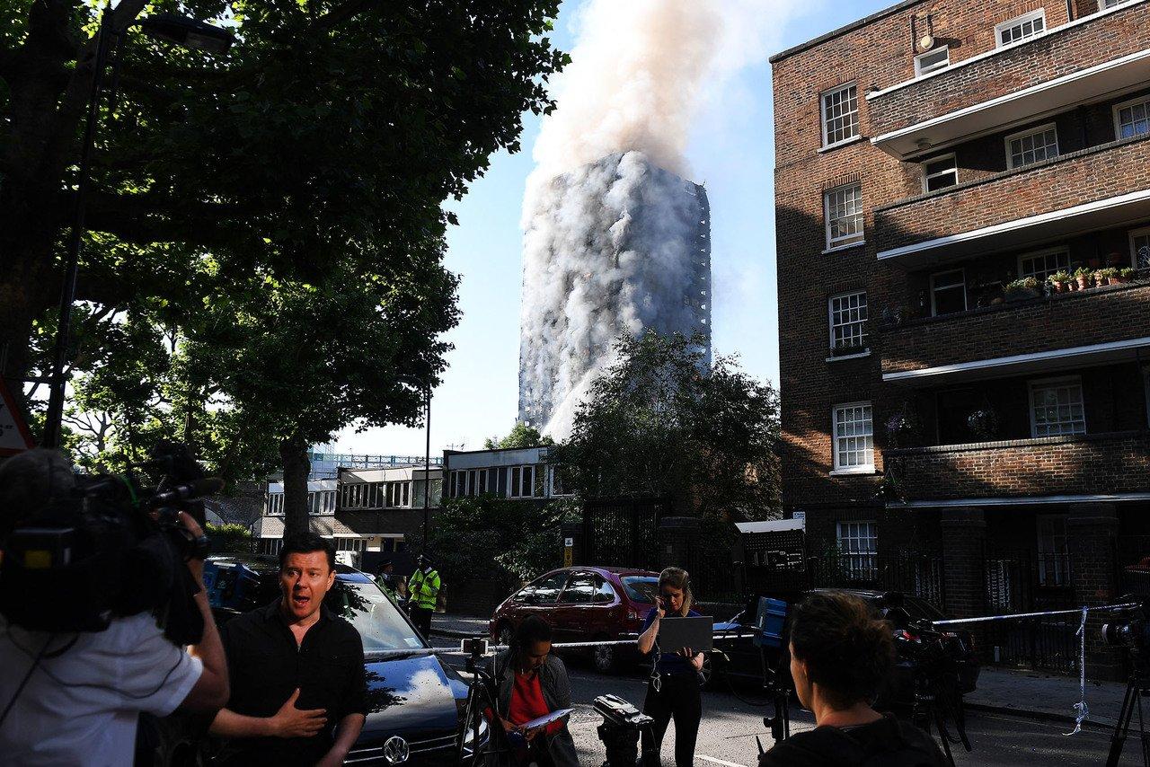 пожар лондон.