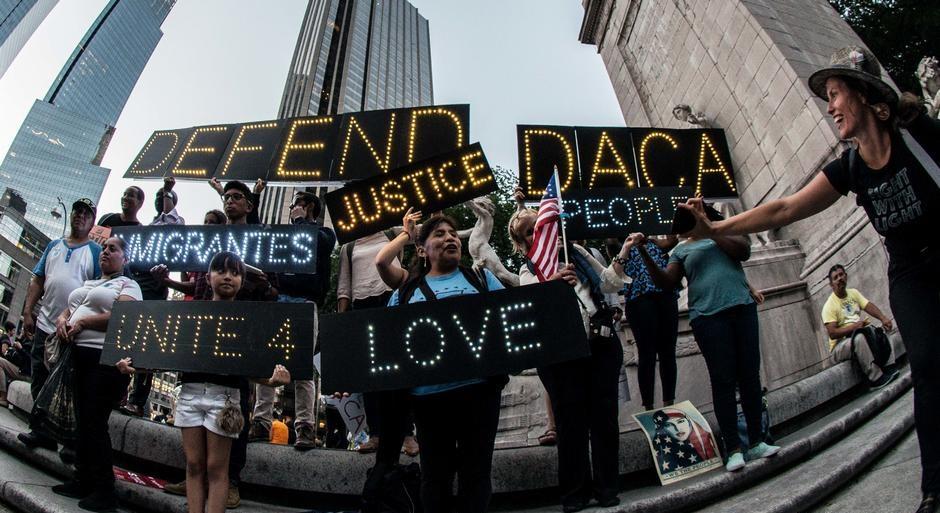 протест мигрантов