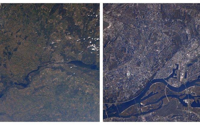 Как выглядит Киев изкосмоса: очень интересные  фото