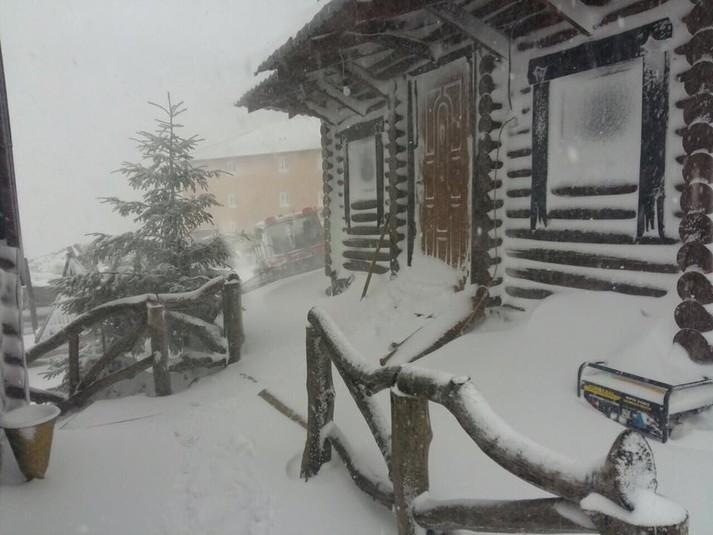 Винтернете появилось впечатляющее видео сильной снежной бури вКарпатах