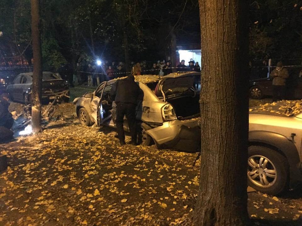 взрыв авто