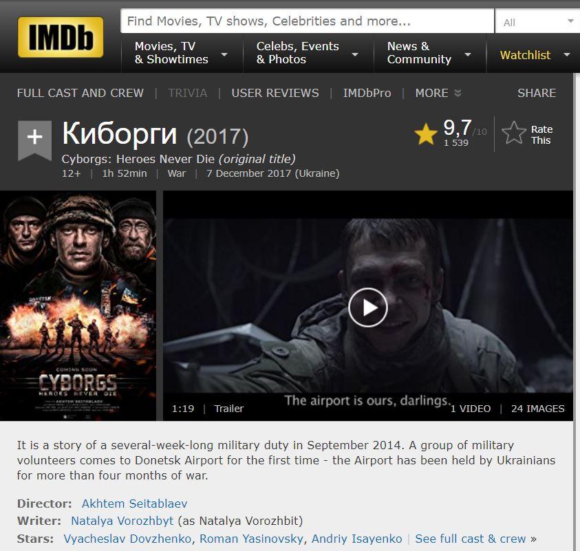 Фильм «Крым» пришелся неповкусу иностранцам