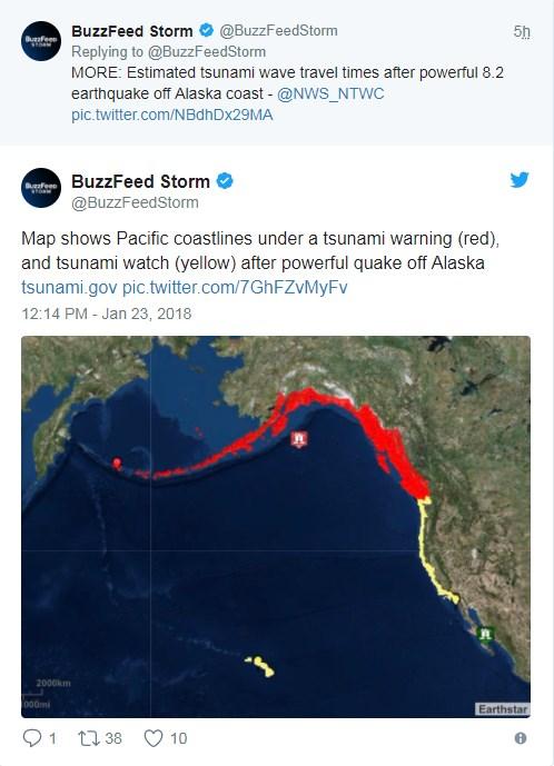 Цунами на Аляске
