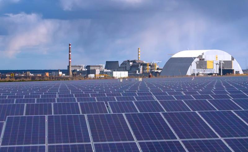 Электростанция в чернобыле