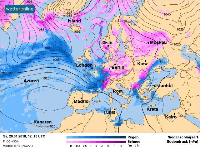 Карта потепления