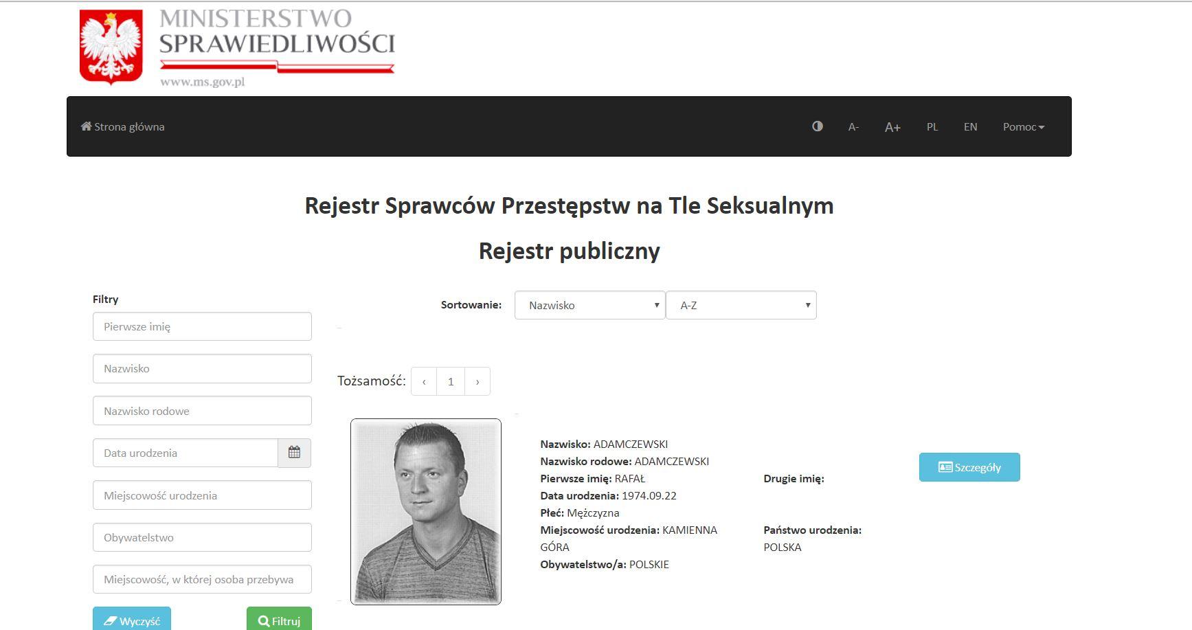 Реестр педофилов Польша
