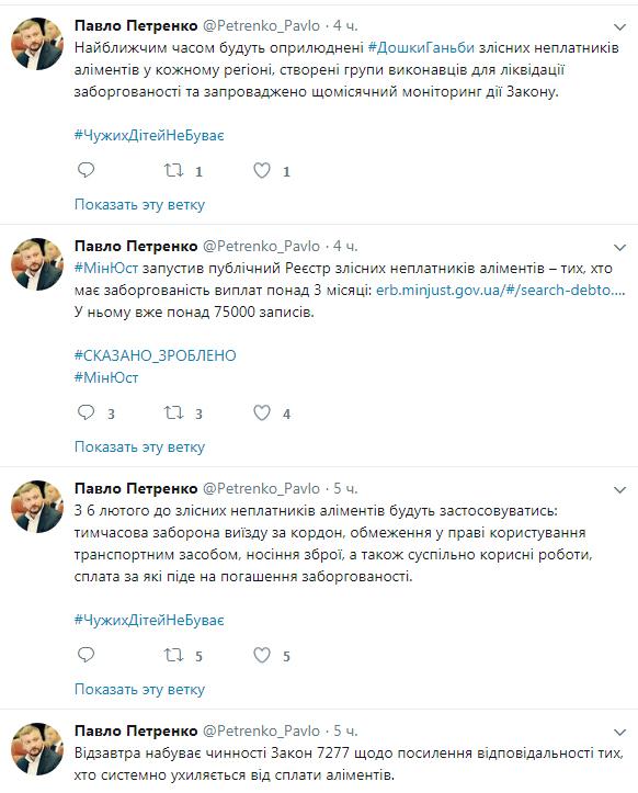 Твит Петренко