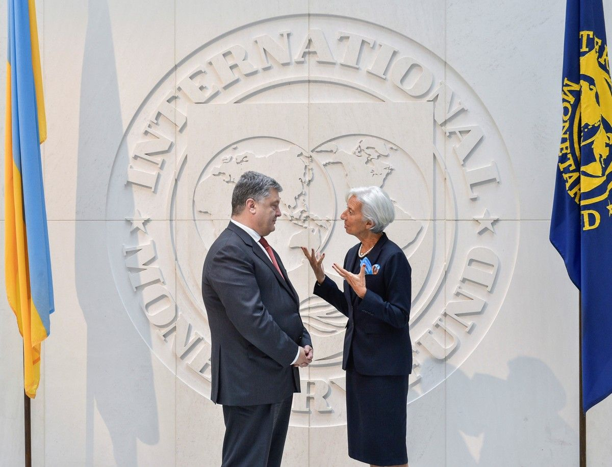 порошенко и глава МВФ