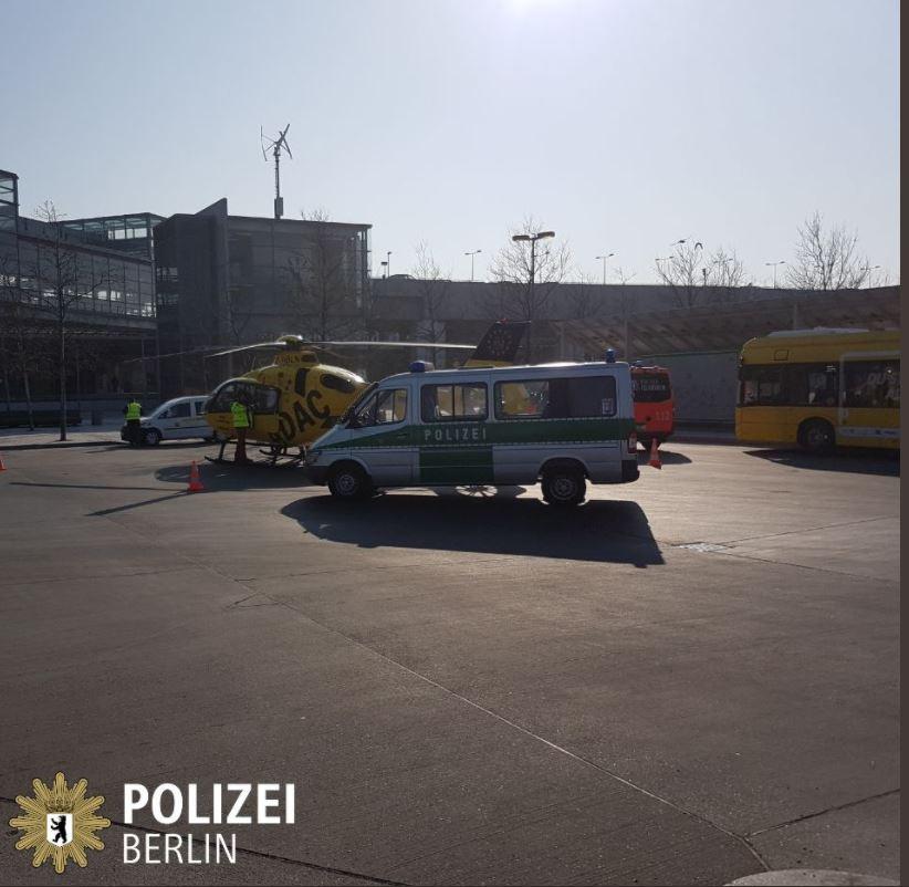 Германия авария с вертолетом