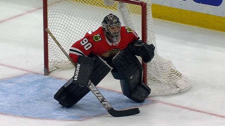 НХЛ. Вратарь «Чикаго» Скотт Фостер признан звездой игрового дня