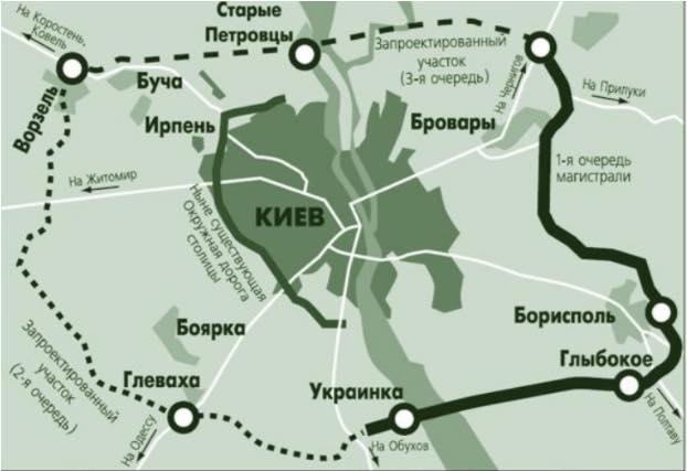 Новая кольцевая дорога в Киеве может стать платной