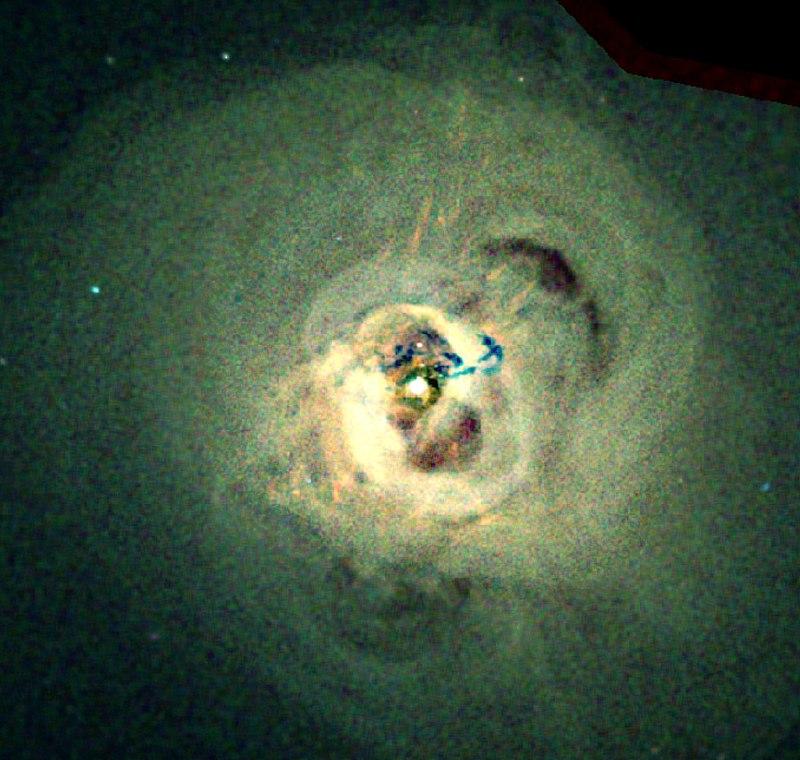 Вкосмосе обнаружили огромный старинный циклон