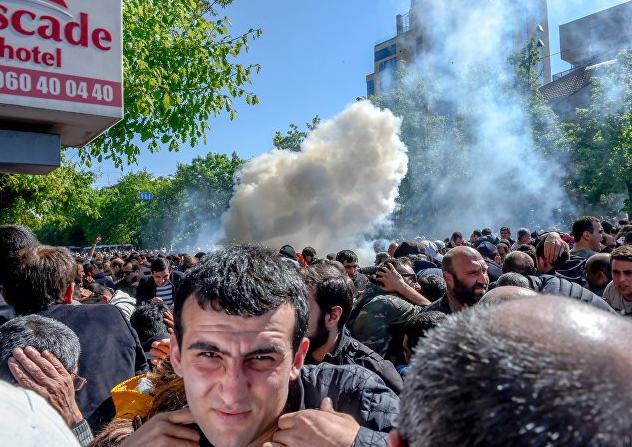 стычка в Ереване