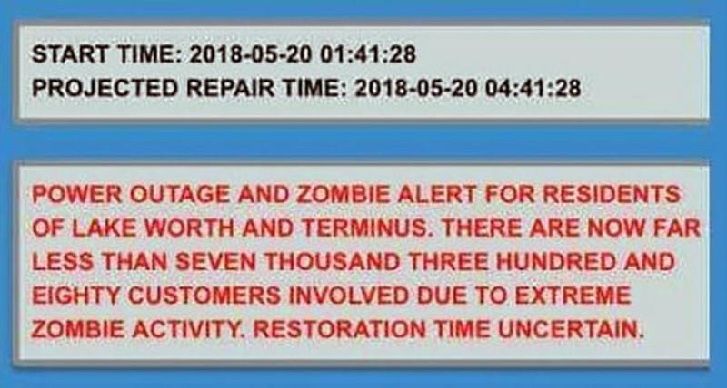 уведомление о зомби
