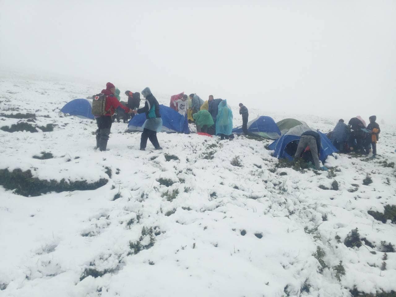 детский лагерь в горах