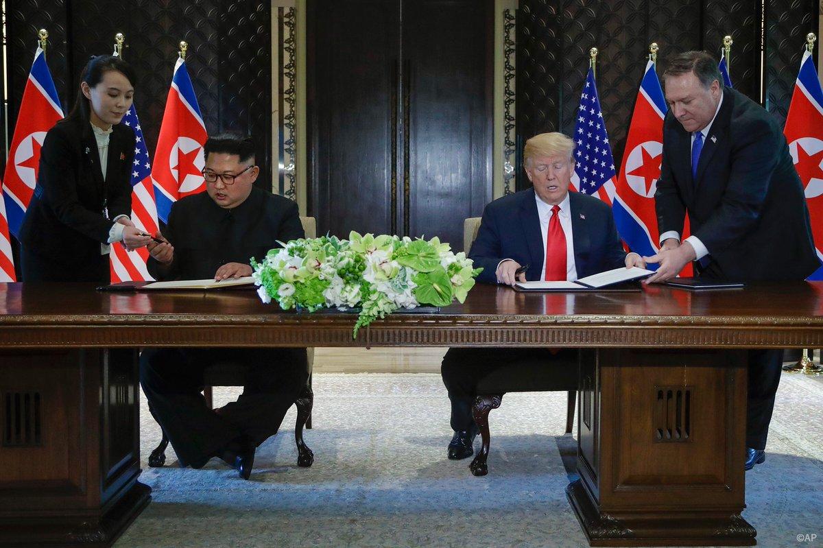 Дональд Трамп Ким Чем Ын