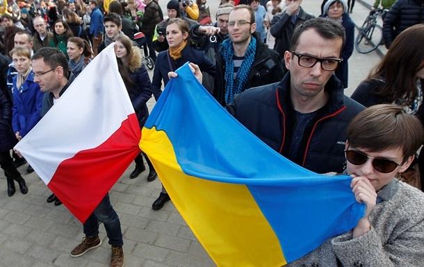 флаги Украина и Польша
