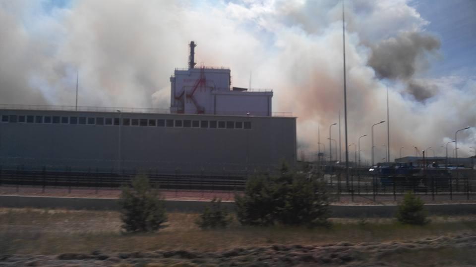 горит Чернобыль