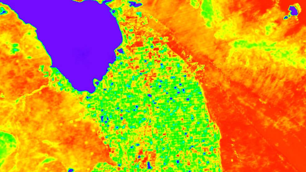 Карта нагрева земли