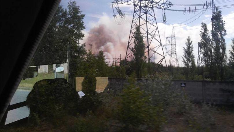 пожар в Чернобыле.