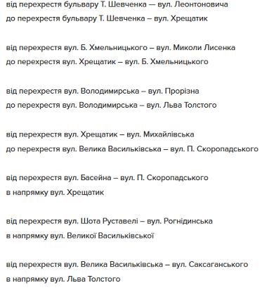 список киев