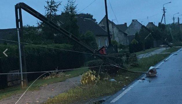 ураган в Польше