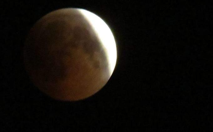 лунное затмение общий вид