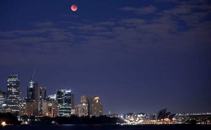 затемение луны