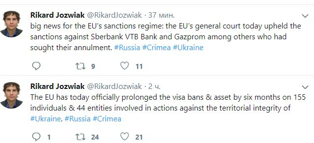 информация о санкциях