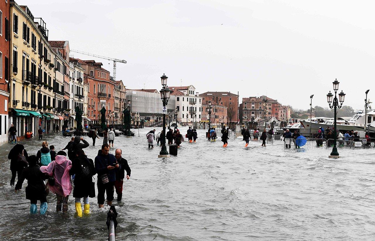 наводнение венеция